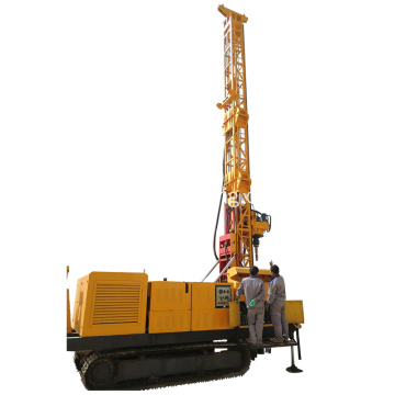 Reverse circulation rotary surface crawler drilling rig